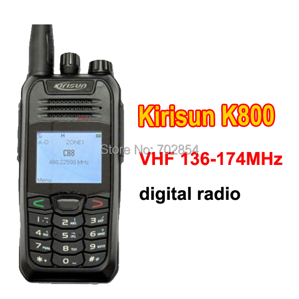 Free shipping kirisun K800 handheld transceivers VHF 136-174MHz civil Digital Radio handy talkie(China (Mainland))