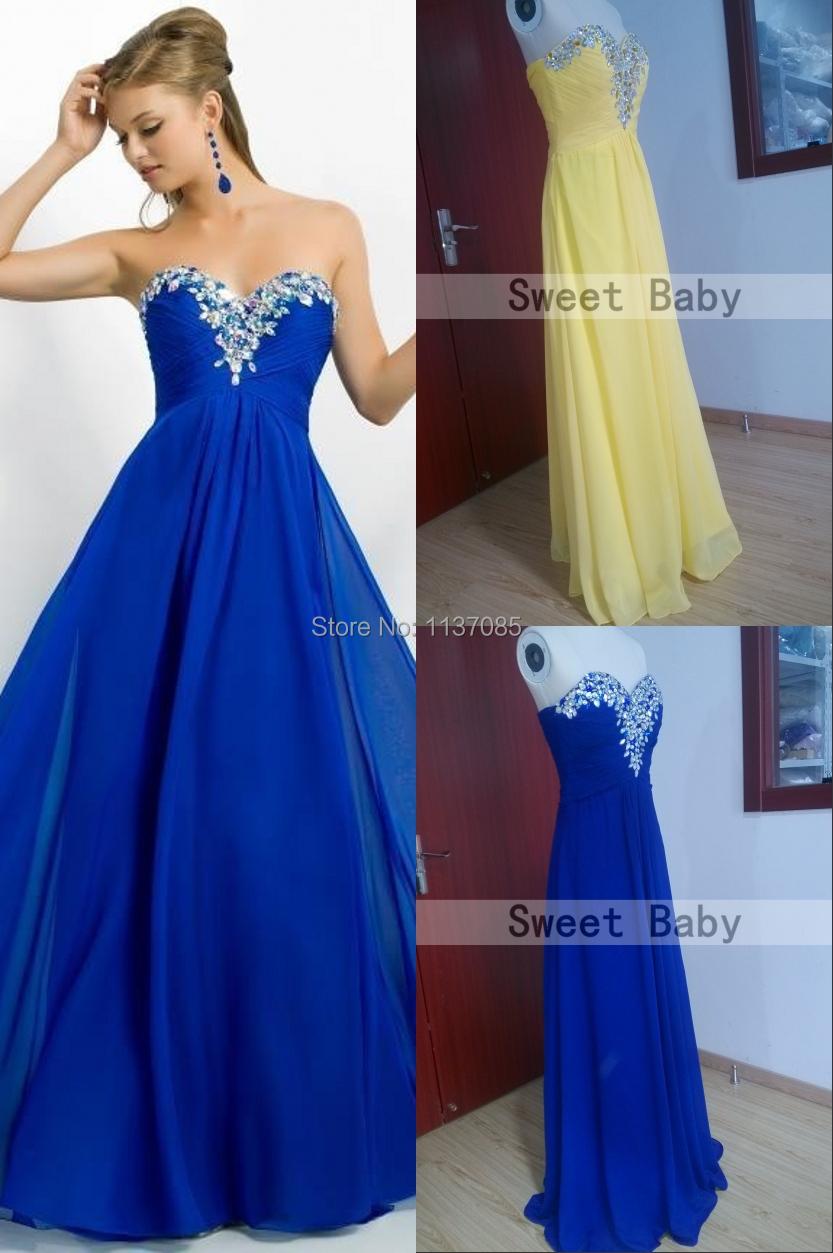 Royal blue yellow cheap long bridesmaid dresses 2015 for Royal blue wedding dresses cheap