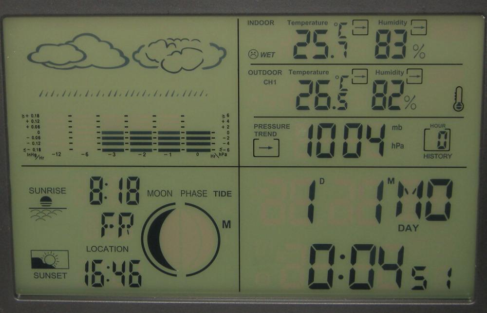 Acheter station m t o num rique barom tre - Station meteo avec capteur exterieur sans fil ...