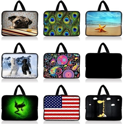 """Free Shipping With Handle 7"""" Tablet Laptop Neoprene Sleeve Pouch Case Bag For 7.9"""" Apple Ipad Mini w/Cover(China (Mainland))"""