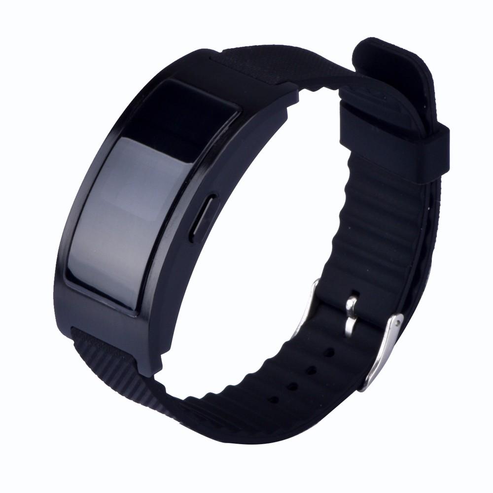 ถูก CK11บลูทูธสายรัดข้อมือสมาร์ทฟิตเนสติดตามนาฬิกาสร้อยข้อมือสนับสนุนขั้นตอนแคลอรี่ระยะทางผมทองวงC Uenta Pasos