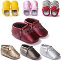 2015 Blingbling pu Leather Baby Moccasins Baby Shoes Newborn Baby First Walkers Tassels leopard striped multicolor