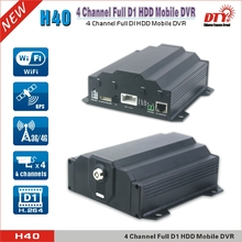 Free client software 4CH HDD recording vehicle dvr h 264 with 3G ,GPS and wifi antennas ,H40-3GW(China (Mainland))