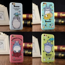 2015 The Newest 3D Japan Fashion cute Cartoon Animals Totoro Protective soft Tpu case For Iphone6 4.7inch/6plus 5.5inch