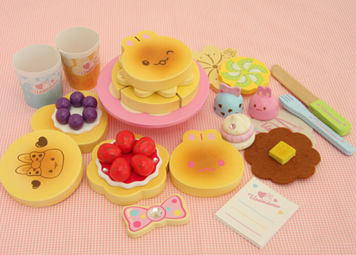 New wooden toy Muffin Cake Kitchen toy set Baby toy Free shipping(China (Mainland))