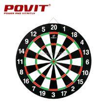 PE-3250 Free shipping 12 Inch Set Double Faced Flock Printing Thickening Dart Board Dartboard+4 Needle(China (Mainland))