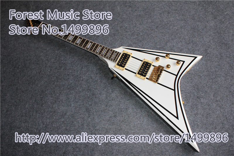 Custom Shop China Randy Rhoads Signature Jackson Flying V E-gitarre & Linkshänder Gitarre Für Verkauf(China (Mainland))