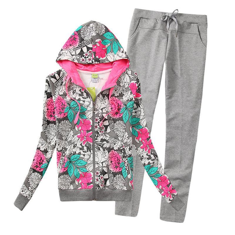 High quality Ladies Zipper hoodies Sport Suits Tracksuits Hoodies Fashion women Coats Jacket Pants Sportswear hoodies WH-014