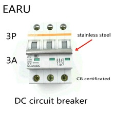Buy 3P 3A DC 750V DC Circuit Breaker MCB for PV Solar Energy Photovoltaic System Battery C curve CB Certificated Din Rail Mounted for $18.00 in AliExpress store
