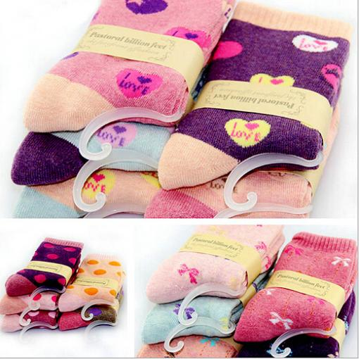 5pairs 1 lot Kawaii Cute Colorful Winter Warm Women Socks Tube Dot Fuzzy Casual Sport Art