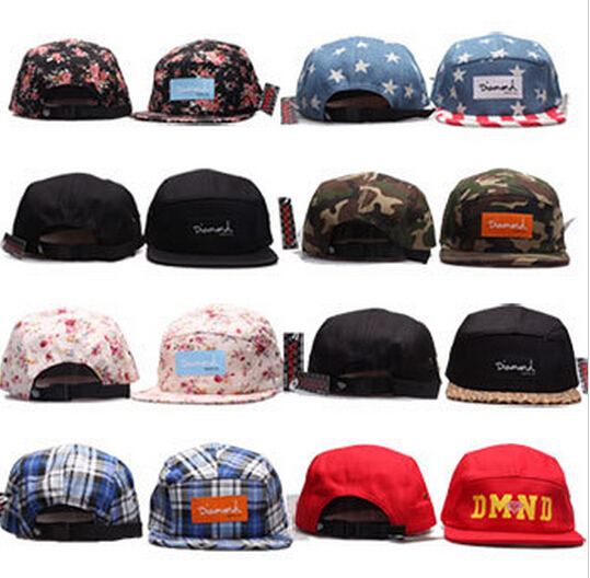 2015 summer style Diamond 5 panel cap hat classic strapback bone diamond five panel snapback gorro hip hop hats for men & women(China (Mainland))
