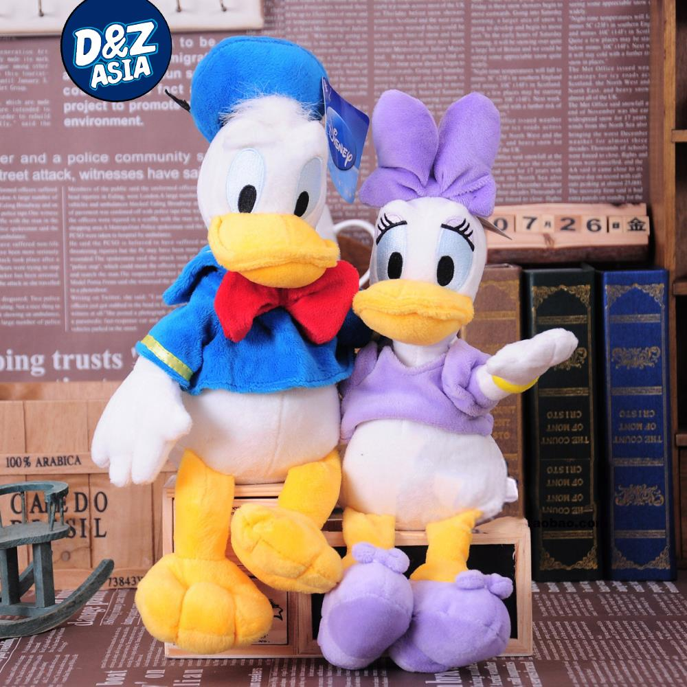 Hot 1pcs Selling Plush Funny Cartoon Couple Duck And Daisy Hot Selling Doll  Plush Toys Wedding