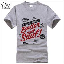 BETTER CALL SAUL Men T-shirt BREAKING BAD Los Pollos Hermanos Cotton Short Sleeve Round Neck Tops Tees Fashion T shirt TA0166