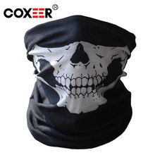 COXXEER Halloween Cosplay Bicycle Ski Skull Mask Half Face Mask Ghost Scarf Neck Warmer skull Party Mask Motorcycle Mask 1Pcs(China (Mainland))