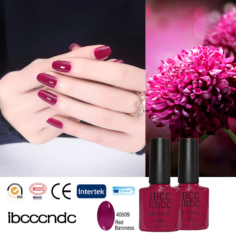 Brand New IBCCCNDC Nail Gel Polish Colors LED&UV Lamp Curing Varnish Lacquer 79 Colors Available Summer Passion Red 40509(China (Mainland))