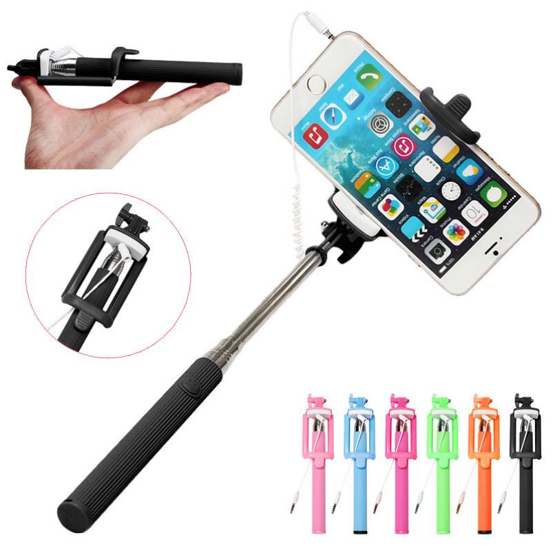 buy splendid wired selfie stick handheld monopod shutter extendable mount. Black Bedroom Furniture Sets. Home Design Ideas