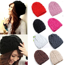 Unique Design  Women's Winter Crochet Wool Braided Baggy Beanie Cap Ski Hat Retail/Wholesale  5BQJ 6RDS(China (Mainland))