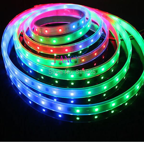 5m 6803 IC 5050 RGB LED Strip waterproof 150LED IP67 tube dream magic color digital 12V Led Strip light 30led/Meter<br><br>Aliexpress