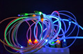 Free shipping Visible Flashing LED Light Charger Data Sync Cable For iphone 5 5C 5S 6