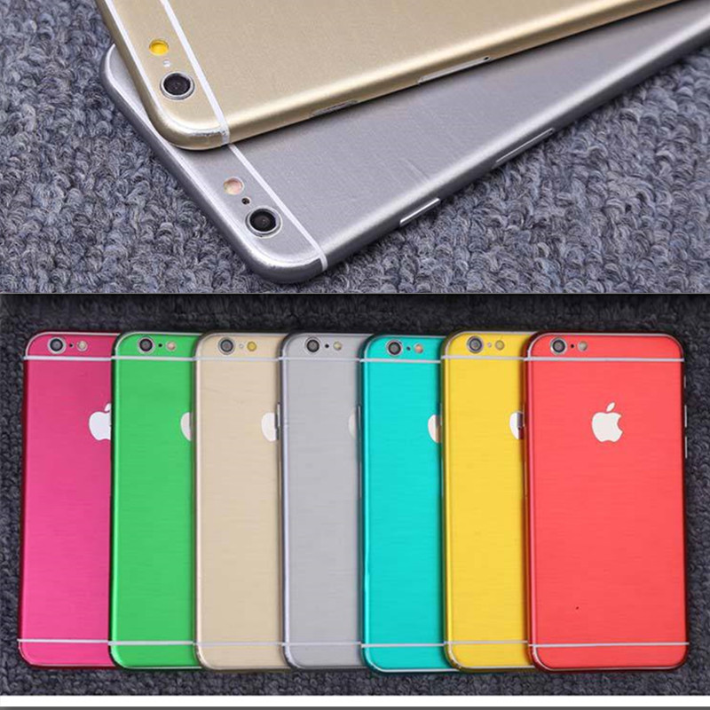 Wire Drawing membrane sticker for iPhone body foil matte protective color film for iphone 6 6s / 6plus 6sPlus phone protector(China (Mainland))