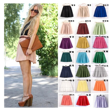 Buy 17color high waist women skirts summer skater ruffles fluffy mini skirt short pleated skirt double layer ball gown chiffon skirt for $10.58 in AliExpress store