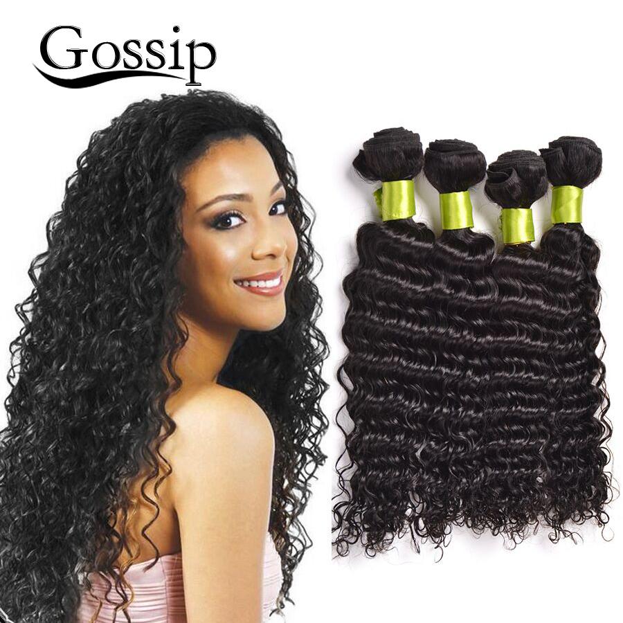 Malaysian Virgin Hair 4 Bundles 100% Human 7A Grade Deep Wave Unprocessed Wavy hair - Gossip Products-100% Store store