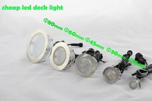 Newest Cheap LED Deck Lights Christmas Decoration Garden Lamps for Outdoor Lighting 30mm 45mm 60mm 80mm RGB Change Color(China (Mainland))