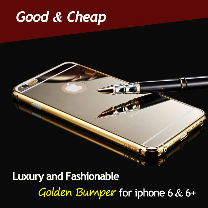 50 pcs/lot Factory Wholesale luxury Gold / Silver / Black Aluminum Bumper Frame Case For iphone 6/6 plus Shipping DHL Fedex EMS(China (Mainland))
