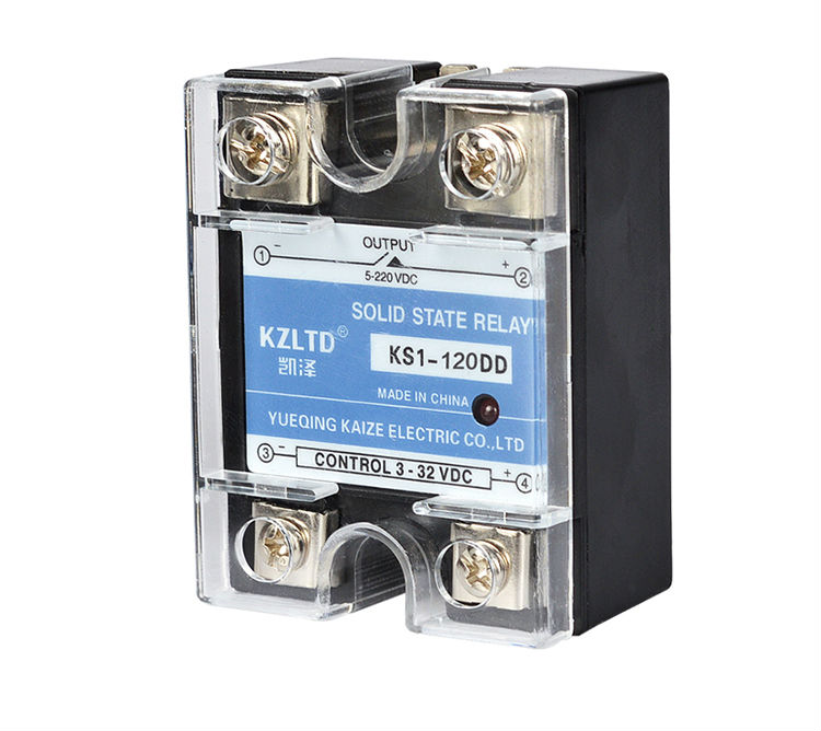 DD-DD 12 Volt Module Relay Solid State Input 3~32VDC to Output 5~220VDC Relay 120A  for PID Temperature Controller KS1-120DD