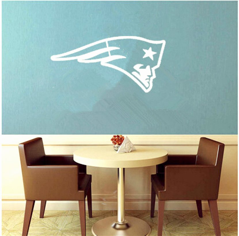 personalized boys gift NFL New England Patriots poster,home decor nursery sports football wall sticker(China (Mainland))