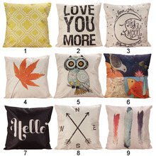 1 Piece Fashion Decor box Retro Cotton Linen Throw Compass Cushion Cover Pillowcase Great Gift for Friend 45 cm x 45 cm(China (Mainland))