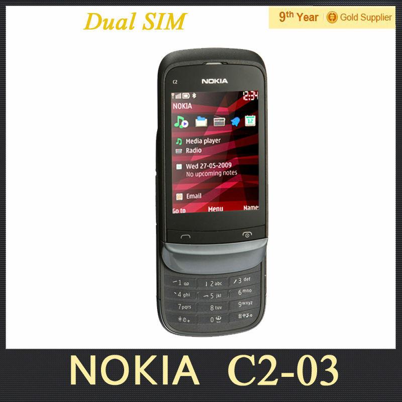 C2 03 Original Unlocked NOKIA C2 03 Cell Phone Dual SIM 2 ...