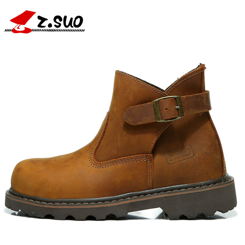 Winter women Genuine Leather Martin boots zsuo fashion girls Tooling shoes Brand cheap female Motorcycle boots size36-44(China (Mainland))