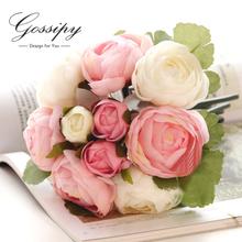 Elegante hechos a mano flor artificial decoración de la boda de boda ramo de la boda flores ramos de novia B3(China (Mainland))