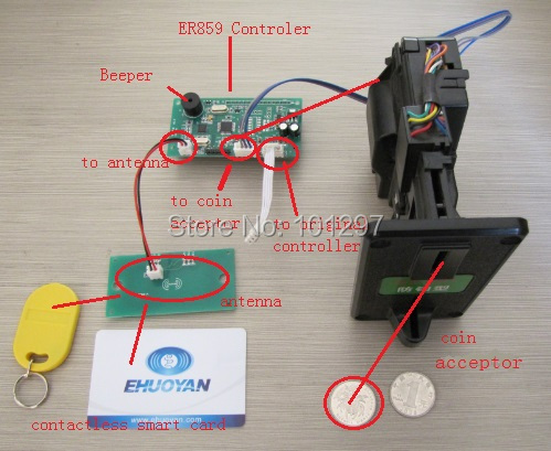 RFID reader IC coin validator for game and vending machine <br><br>Aliexpress