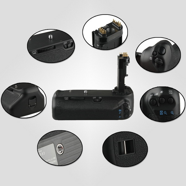 Vertical Battery Grip Holder For Canon EOS 70D Camera DSLR Replacement as BG-E14<br><br>Aliexpress