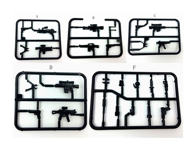 10 Bracket/lot BrickArms Custom swat police gun military army weapons for SWAT solider minifigure Weapon Weapon Pack For SWAT(China (Mainland))