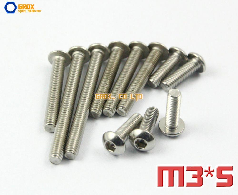 200 Pieces M3 x 5mm 304 Stainless Steel Hex Socket Pan Head Button Head Allen Bolt Screw<br><br>Aliexpress
