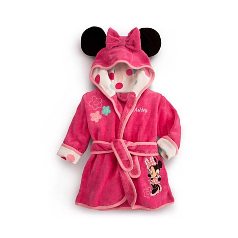 kids towel robes 2015 fall girls pink robe nightgown girl toalla minnie hooded baby bath robe. Black Bedroom Furniture Sets. Home Design Ideas
