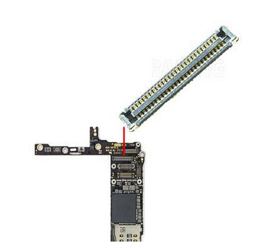 50pcs/lot Touch Screen digitizer TP FPC IC connector J2401 for iPhone 6 6G 4.7 on Motherboard Mainboard<br><br>Aliexpress