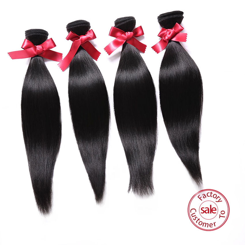 EVET Peruvian Straight Virgin Hair Extensions Peruvian Virgin Hair Straight Peruvian Straight 4pc/lot Human Hair Weave 4 Bundles