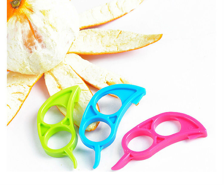 Lot 3 PCS x Orange Peeler Easy Opener Lemon Slicer Cutter Plastic New(China (Mainland))