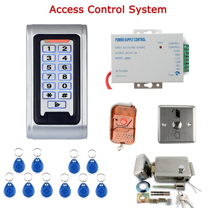 Door access control system kit electric door lock power for Door access controller
