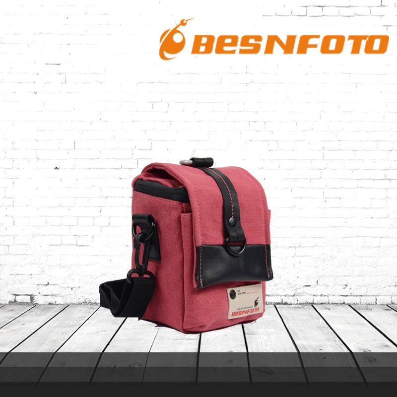 Professional New Pink Carrying Photography Bag Waterproof Protection Canvas Backpack for Small SLR Video Camera Shoulder Case(China (Mainland))