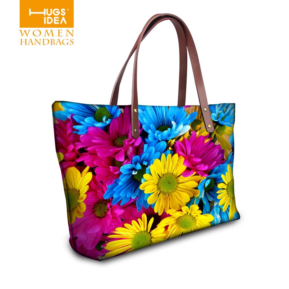 Fashion Women Floral Handbags Large Bags Handbags Women Famous Brands Tote Purse Sac a Main Designer Handbags High Quality(China (Mainland))