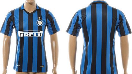 Top quality 2015 - 2016 PODOLSKI home and away soccer jersey Inter milan 15/16 NAGATOMO football shirt Free shipping(China (Mainland))