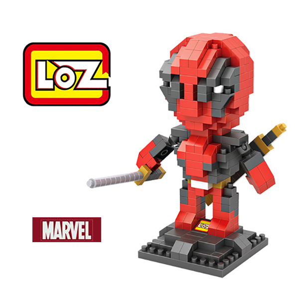 LOZ Deadpool Moive Figure Nano Blocks Super Heroes Avengers Justice League Minifiugre Model Diamond Building Brick Toy(China (Mainland))