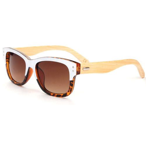 Leopard style summer sunglasses women/men famous brand bambo wooden leg sunglasses men brand sports hiking glasses SGW04703(China (Mainland))