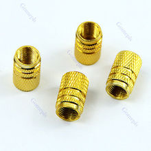 Free Shipping 40pcs/lot Tire Tyre Wheel Hexagonal Ventil Valve Stems Cap For Auto Car Truck Gold