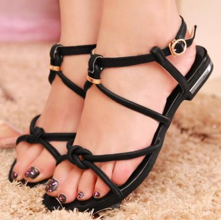 Genuine leather 2016 NEW flats sandals fashion women dress sexy slippers shoes footwear P1245 EUR size 34-39 free ship - Jessey Zhou's store